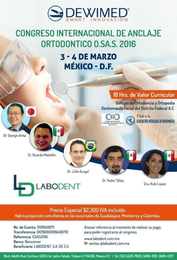 Congreso Internacional de Anclaje Ortodontico O.SA.S. 2016 @ Ciudad de México | Distrito Federal | México